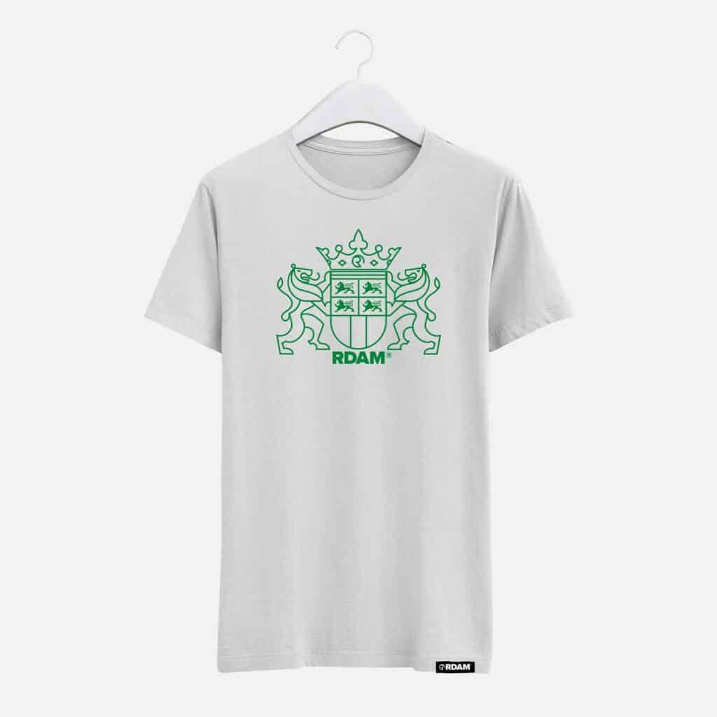 rdam rotterdam groen wapen op wit shirt