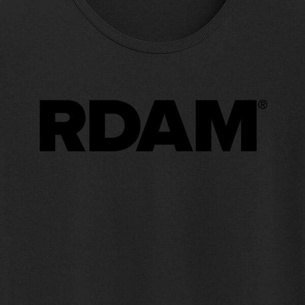 RDAM® T-shirt met zwart op zwart opdruk