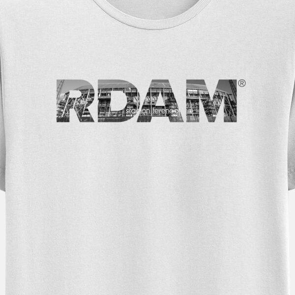 RDAM T-Shirt Wit met Feyenoord Kuip opdruk