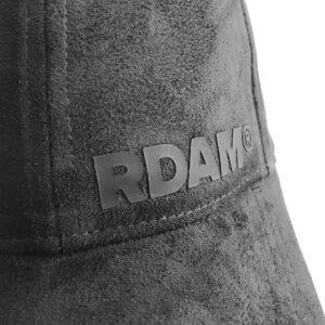 RDAM® Suede Baseball cap Zwart op Zwart 3D