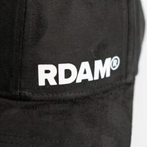 RDAM® suede pet wit op zwart