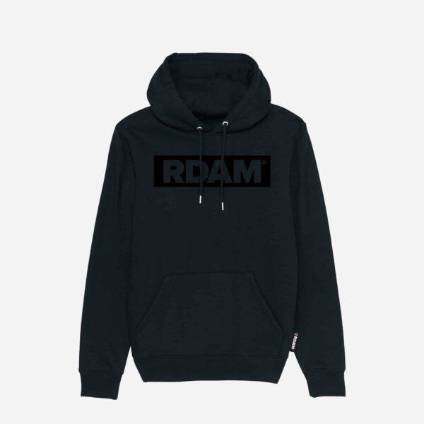 rdam hoodie met rdam flock outline flock opdruk