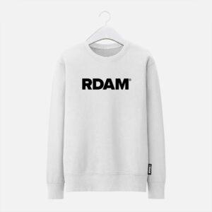 rdam sweater wit met zwarte rdam letters