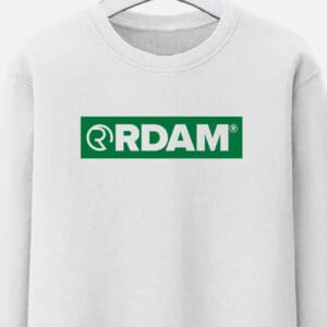 rdam rotterdam sweater groen outline flock